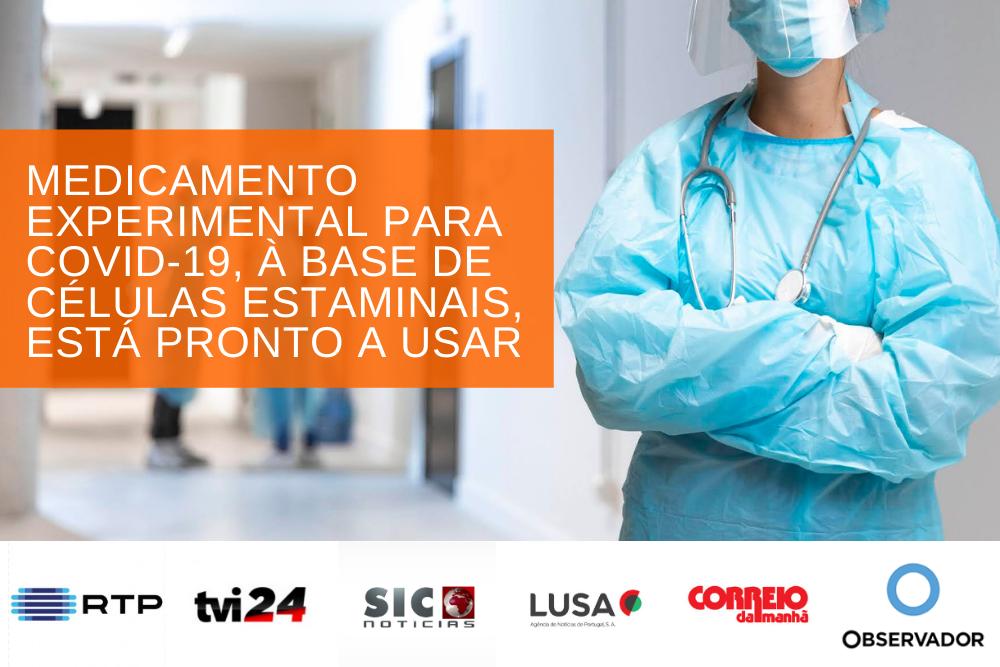 MEDICAMENTO EXPERIMENTAL PARA COVID-19, À BASE DE CÉLULAS ESTAMINAIS, ESTÁ PRONTO A USAR